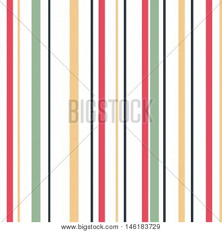 Green Yellow Pink Grey & White Striped Background. Isolated vector illustration seamless pattern with colorful stripes.