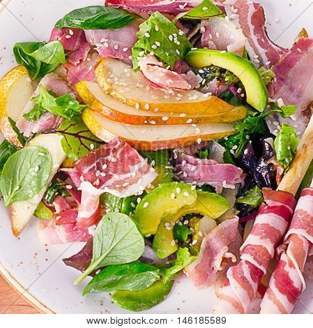 Fresh Mixed Salad With Pancetta