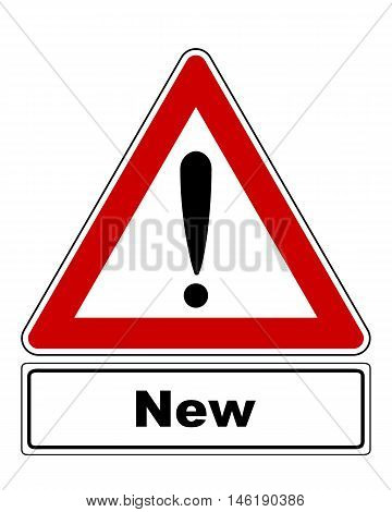 Attention Sign With Exclamation Mark And Added Information