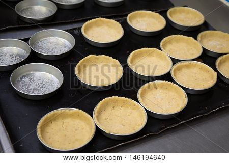 Baked Shortcrust Pastry For Small Tart In Cake Form