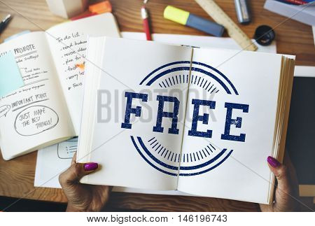 Free Sale Sign Advertisement Concept