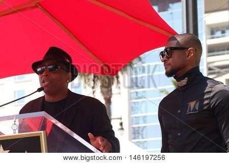 LOS ANGELES - SEP 7:  Terry Lewis, aka Jimmy Jam, Usher Raymond at the Usher Honored With a Star On The Hollywood Walk Of Fame at the Eastown on September 7, 2016 in Los Angeles, CA
