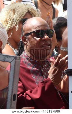 LOS ANGELES - SEP 7:  Stevie Wonder at the Usher Honored With a Star On The Hollywood Walk Of Fame at the Eastown on September 7, 2016 in Los Angeles, CA