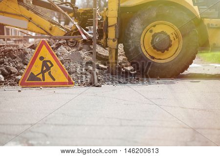 Road Is Under Construction Sign