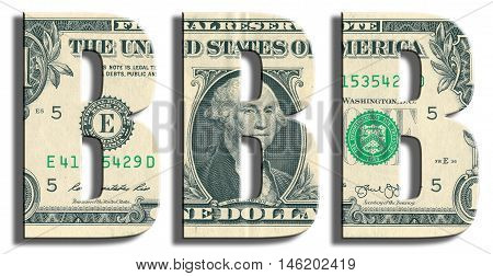 Bbb Or Triple B Credit Rating. Us Dollar Texture.