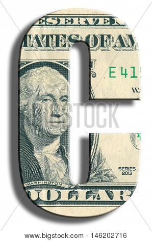 C Credit Rating. Us Dollar Texture.