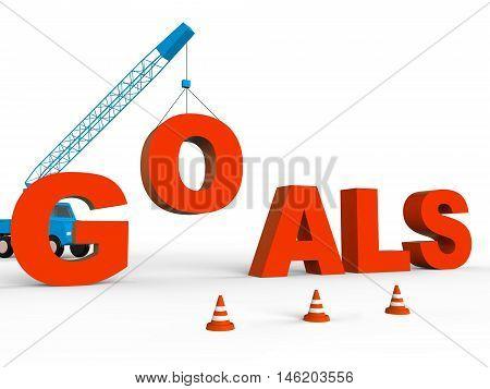 Build Goals Represents Improve Desires 3D Rendering