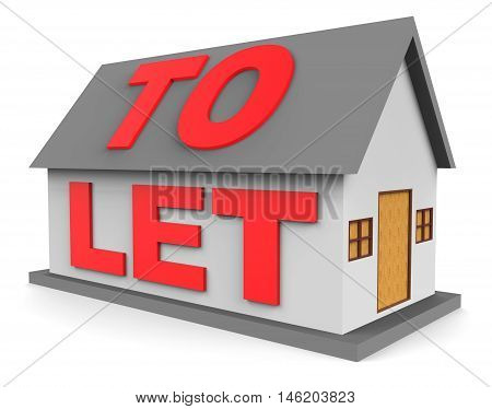 House To Let Shows For Rent 3D Rendering