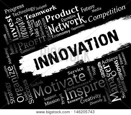 Innovation Words Represents Ideas Transformation And Ideas