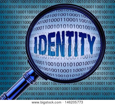 Computer Identity Theft Indicates Online Crime 3D Rendering
