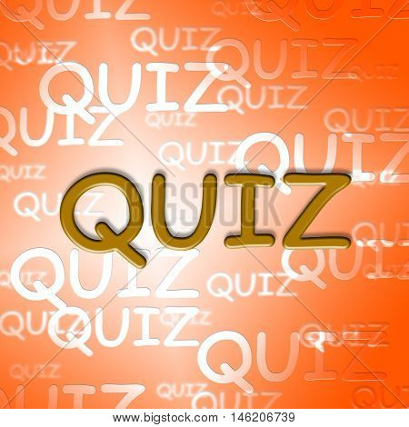 Quiz Words Represents Questions And Answers Puzzle