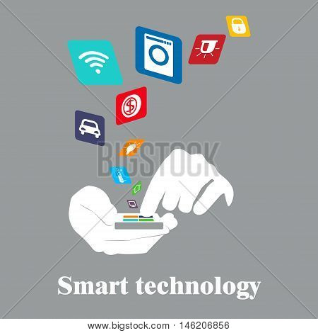 Smart technology . Smart House. Concept vector illustration