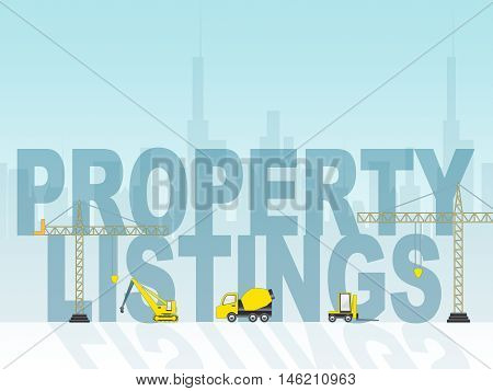 Property Listings Means Houses And Buildings For Sale