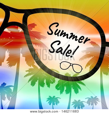 Summer Sale Represents Vacation Discount And Promotions