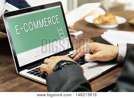 E-Commerce Online Banking Accounting Financial Concept