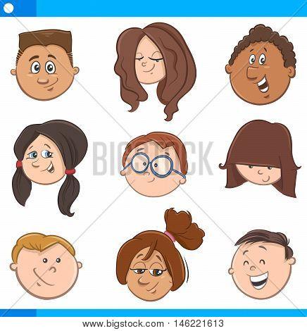 Kids Cartoon Characters Set