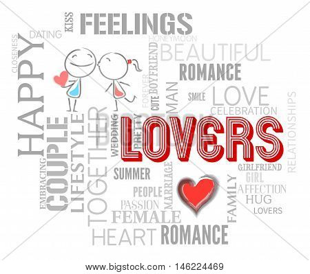 Lovers Words Indicates Affection Compassion And Togetherness