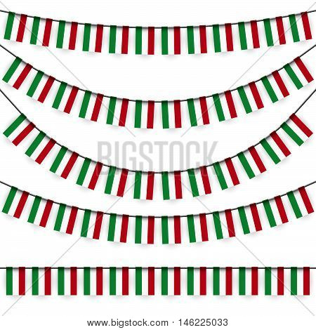 Garlands With Hungarian National Colors