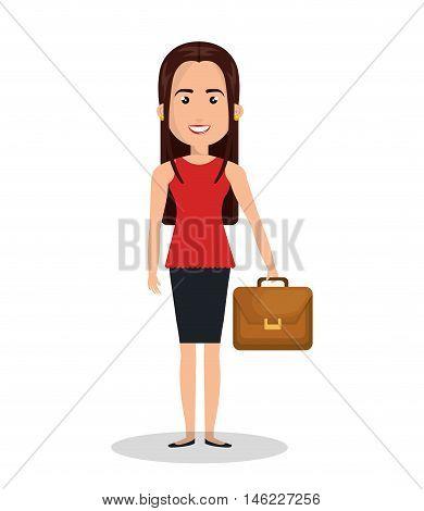 woman cartoon work executive isolated vector illustration eps 10