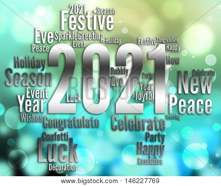 Two Thousand Twenty One Or 2021 New Year Party