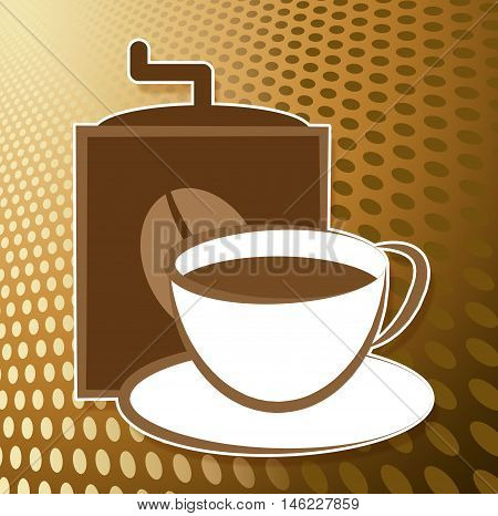 Make Coffee Icon Shows Cafeteria Drinks And Brewing