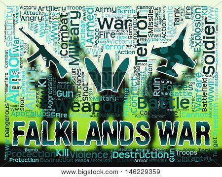 Falklands War Shows Malvinas Hostilities And Fighting