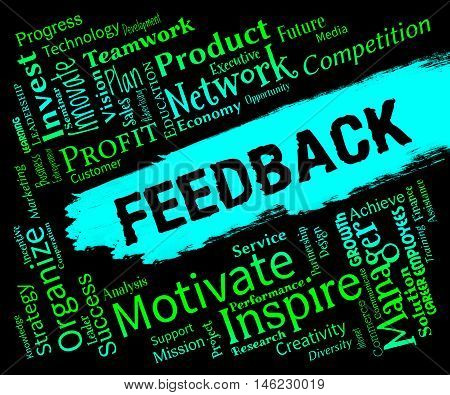 Feedback Words Represents Grading Evaluation And Rating