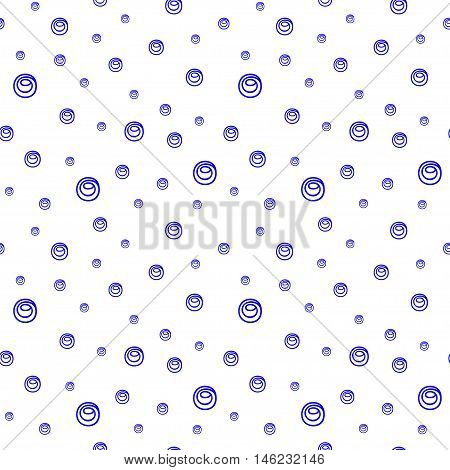 Cute funny seamless background pattern with many repeating different sized bubbles on the white fond. Vector illustration eps 10