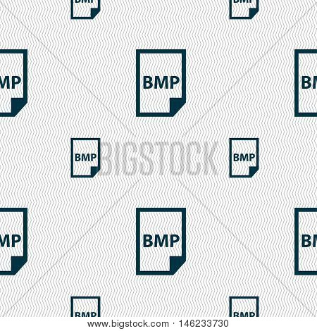 Bmp Icon Sign. Seamless Pattern With Geometric Texture. Vector
