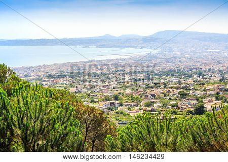 Naples Gulf Taken From Vesuvius Volcano, Italy