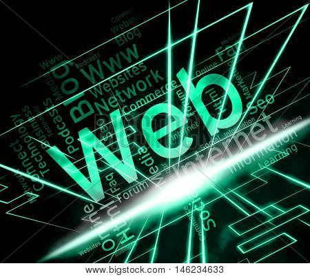 Web Word Means Internet Network And Websites