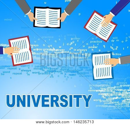 University Books Shows Varsities Literature And Education