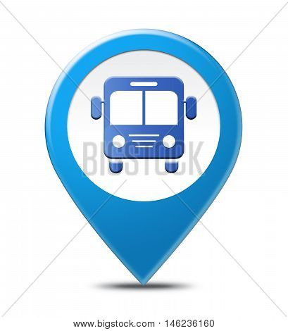Bus Station Location Indicates Local Place And Buses