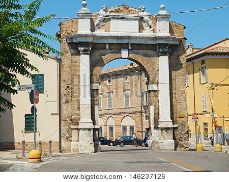 Porta San Mamante Gate Of Ravenna, Emilia-romagna. Italy.