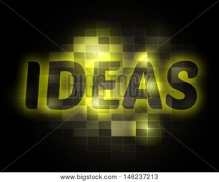 Ideas Word Shows Plans Thoughts And Conception
