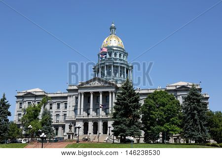 Colorado State Capitol building is located in Denver Colorado USA.