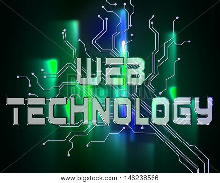 Web Technology Represents Www Technologies And Network