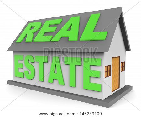 Real Estate Represents For Sale 3D Rendering