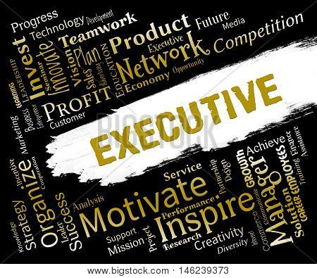 Executive Words Mean Senior Administrator And Chairman