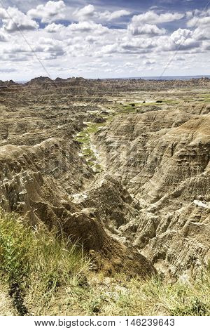 Badlands National Park South Dakota Landscape in Portrait