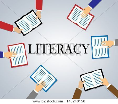 Literacy Books Shows Reading And Writing Ability