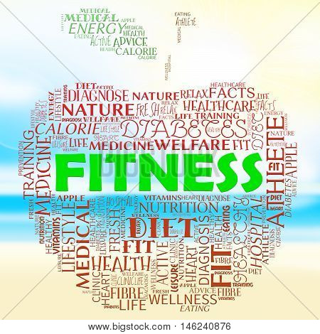 Fitness Apple Means Physical Activity And Health