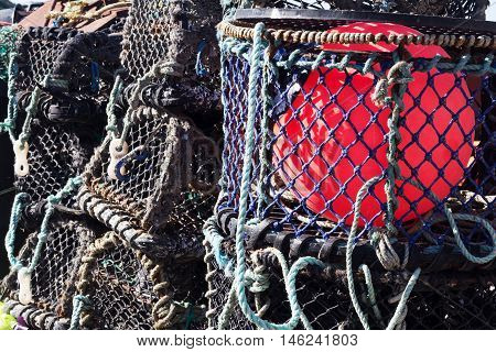 Lobster Traps In The Harbour, Port Issac