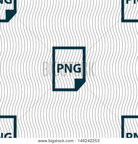 Png Icon Sign. Seamless Pattern With Geometric Texture. Vector