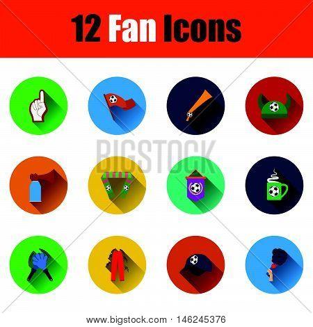 Set Of Twelve Soccer Icons