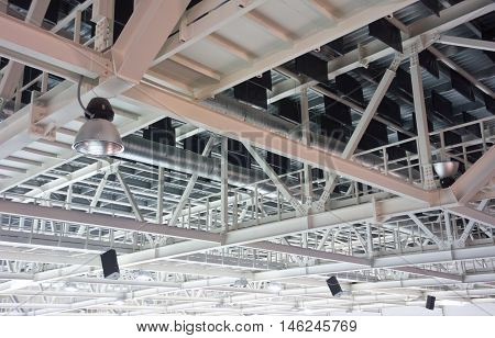 image of a ceiling in a stadium