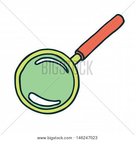 Magnifier icon isolated on white background. Vector illustration
