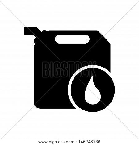 flat design fuel canister and droplet icon vector illustration
