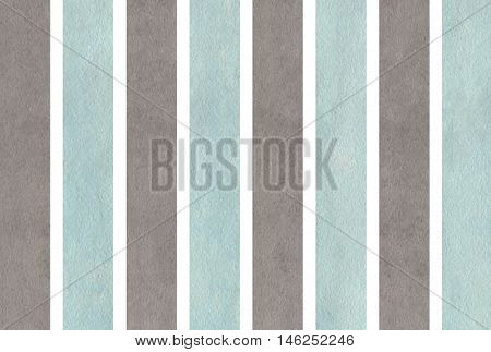 Watercolor Gray And Blue Striped Background.