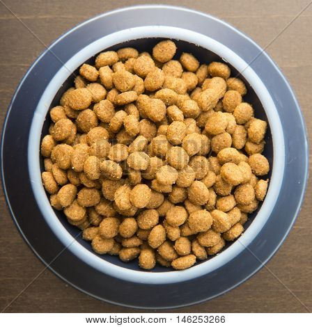 Dry Dog Or Cat Treats In Bowl